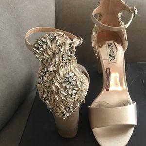 BADGLEY MISCHKA beaded evening prom shoes